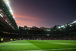 A general view as the sun sets during the Premier League match at Old Trafford, Manchester. Picture date: 1st December 2019. Picture credit should read: Phil Oldham/Sportimage