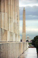 Washington Monument from the Lincoln Memorial Washington DC