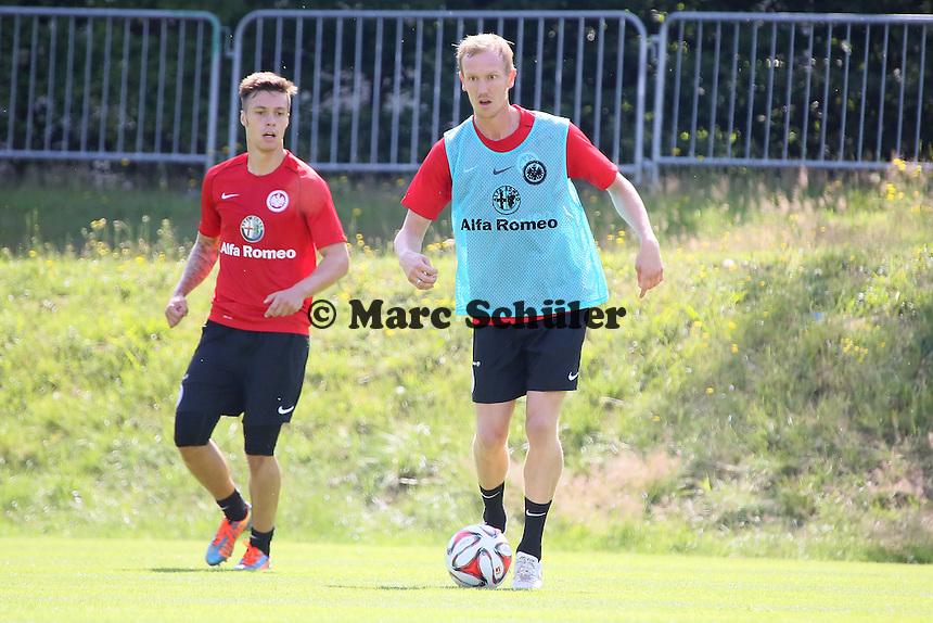 Vaclav Kadlec und Jan Rosenthal (Eintracht) - Eintracht Frankfurt Trainingsauftakt, Commerzbank Arena