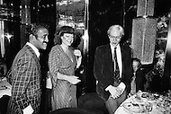 August 31st, 1977, Manhattan, New York City. Regine Davis in her restaurant, Le Reginette 69 East 59th Street. The restaurant was a hot spot for New York City night life, drawing celebrities like Sammy Davis, jr and Andy Warhol.