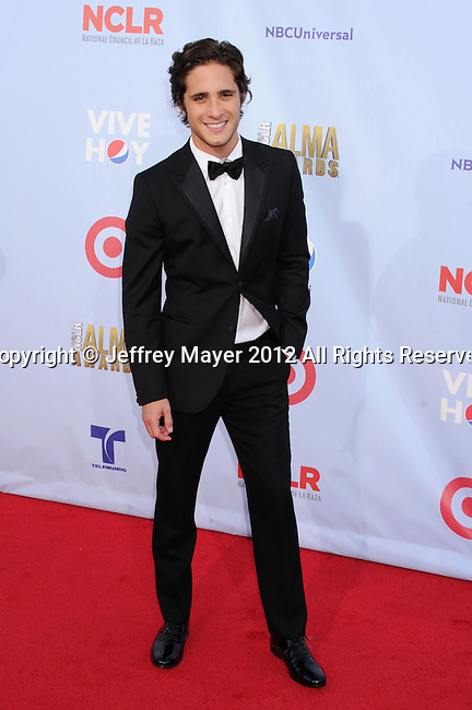 PASADENA, CA - SEPTEMBER 16: Diego Boneta arrives at the 2012 NCLR ALMA Awards at Pasadena Civic Auditorium on September 16, 2012 in Pasadena, California.