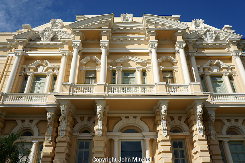 The ornate Italian Renaissance style Palacio Canton on the Paseo de Montejo in Merida, Yucatan, Mexico..