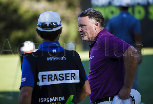 8th February 2018, Lake Karrinyup Country Club, Karrinyup, Australia; ISPS HANDA World Super 6 Perth, first round; Marcus Fraser (AUS)