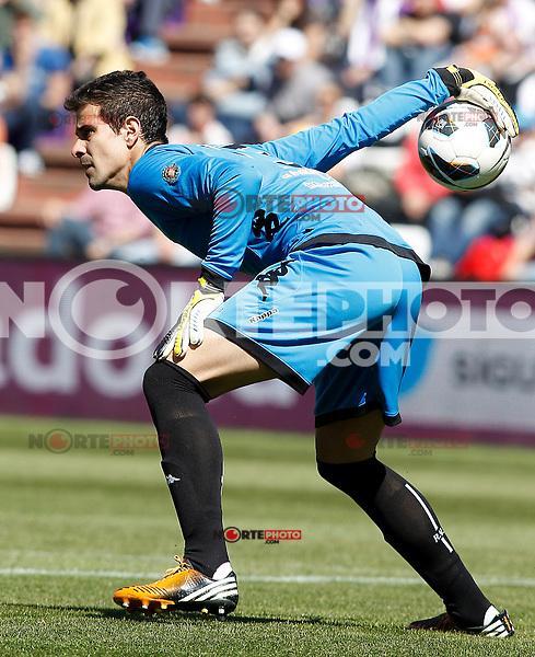 Real Valladolid's Dani Hernandez during La Liga match.April 13,2013. (ALTERPHOTOS/Acero)