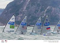 Finn start<br /> Laser USA Charlie Buckingham USACB64<br /> 2016 Olympic Games <br /> Rio de Janeiro