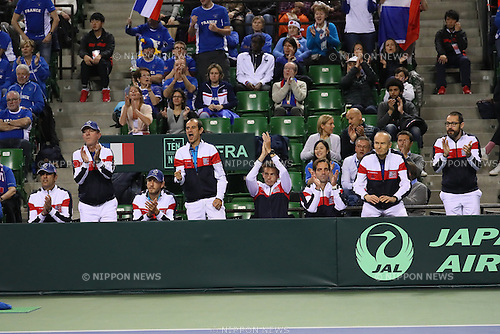 France team group (FRA), <br /> FEBRUARY 3, 2017 - Tennis : <br /> 2017 Davis Cup World Group First Round <br /> between Japan - France <br /> at Ariake Coliseum, Tokyo, Japan. <br /> (Photo by YUTAKA/AFLO SPORT)