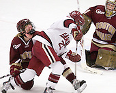 Shannon Webster (BC - 12), Randi Griffin (Harvard - 23) - The Harvard University Crimson defeated the Boston College Eagles 5-0 in their Beanpot semi-final game on Tuesday, February 2, 2010 at the Bright Hockey Center in Cambridge, Massachusetts.