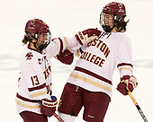 Haley McLean (BC - 13), Serena Sommerfield (BC - 3) - The Boston College Eagles defeated the visiting Boston University Terriers 5-3 (EN) on Friday, November 4, 2016, at Kelley Rink in Conte Forum in Chestnut Hill, Massachusetts.The Boston College Eagles defeated the visiting Boston University Terriers 5-3 (EN) on Friday, November 4, 2016, at Kelley Rink in Conte Forum in Chestnut Hill, Massachusetts.