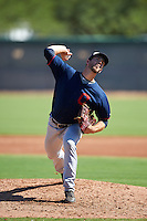 Cleveland Indians pitcher Michael Letkewicz (48) during an Instructional League game against the Los Angeles Dodgers on October 10, 2016 at the Camelback Ranch Complex in Glendale, Arizona.  (Mike Janes/Four Seam Images)