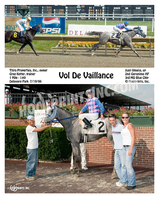 Vol De Vailiance winning at Delaware Park on 7/19/06