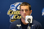 08 December 2012: Georgetown's Tommy Muller. The Georgetown University Hoyas held a press conference at Regions Park Stadium in Hoover, Alabama one day before playing in the 2012 NCAA Division I Men's Soccer College Cup championship game.