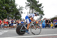 Alejandro Valverde during the stage of La Vuelta 2012 between Cambados and Pontevedra.Individual Time Trials.August 29,2012. (ALTERPHOTOS/Paola Otero) /Nortephoto.com<br />