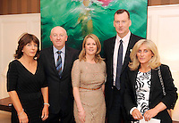 Carmel Whelan and Donie O'Brien, Eno Wine, Niamh O'Shea, Killarney Park Hotel, Patrick Curran, Knightsbrook Hotel, and Ann Costello, Frost Couture, at the Irish Hotels Federation Conference 'President's Dine Around' event in The  Killarney Park Hotel  on Monday  night. Picture: MacMonagle, Killarney