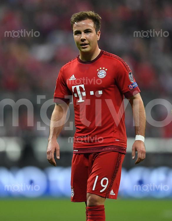 FUSSBALL CHAMPIONS LEAGUE  SAISON 2015/2016 VIERTELFINALE HINSPIEL FC Bayern Muenchen - Benfica Lissabon         05.04.2016 Auch kurz im Spiel: Mario Goetze (FC Bayern Muenchen)