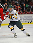 18 January 2008: University of Vermont Catamounts' forward Reese Wisnowski, a Senior from East Middlebury, VT, in action against the Northeastern University Huskies at Gutterson Fieldhouse in Burlington, Vermont. The two teams battled to a 2-2 tie in the first game of their 2-game weekend series...Mandatory Photo Credit: Ed Wolfstein Photo