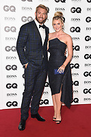 LONDON, UK. September 05, 2018: Chris Robshaw & Camilla Kerslake at the GQ Men of the Year Awards 2018 at the Tate Modern, London