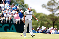Sergio Garcia (ESP) putts out on the 7th hole during the second round of the 118th U.S. Open Championship at Shinnecock Hills Golf Club in Southampton, NY, USA. 15th June 2018.<br /> Picture: Golffile | Brian Spurlock<br /> <br /> <br /> All photo usage must carry mandatory copyright credit (&copy; Golffile | Brian Spurlock)