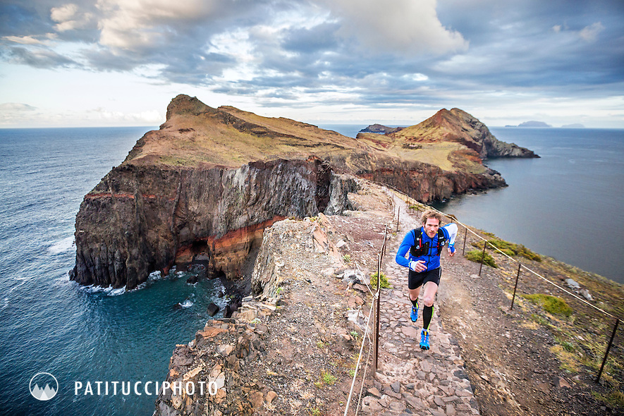 Trail running at Ponta Sao Lourenco on the Madeira Island