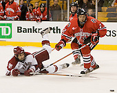 ?, Andrew Linard (NU - 2) - The Northeastern University Huskies defeated the Harvard University Crimson 3-1 in the Beanpot consolation game on Monday, February 12, 2007, at TD Banknorth Garden in Boston, Massachusetts.