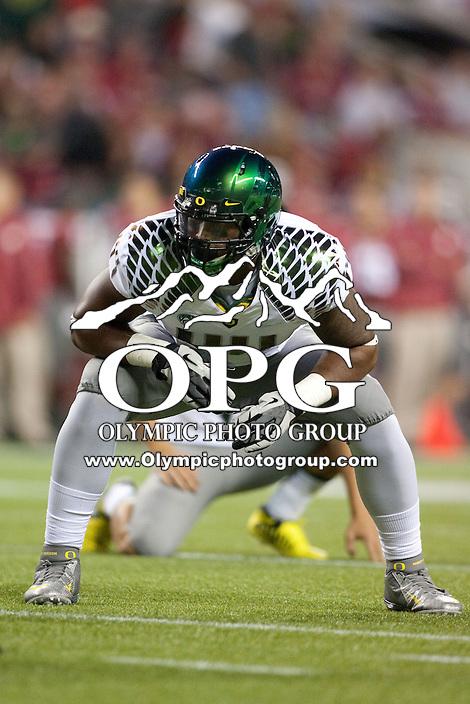 Sep  30, 2012:  Oregon's Deforest Buckner against Washington State.  Oregon defeated Washington State 51-26 at Century Link Stadium in Seattle, Washington...