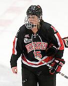 Lindsay Domaas (NU - 15) - The Harvard University Crimson defeated the Northeastern University Huskies 1-0 to win the 2010 Beanpot on Tuesday, February 9, 2010, at the Bright Hockey Center in Cambridge, Massachusetts.