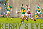 Kerry's Paul Galvin and Galway's Garreth Bradshaw.