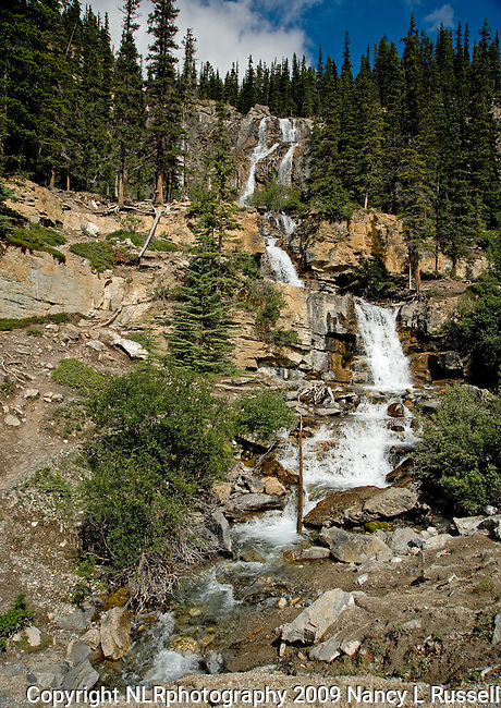 Tangle falls north of the Icefields in Jasper National Park