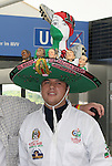 09 June 2006: A Mexico fan with a heavily decorated sombrero. Germany played Costa Rica at the Allianz Arena in Munich, Germany in the opening match, a Group A first round game, of the 2006 FIFA World Cup.
