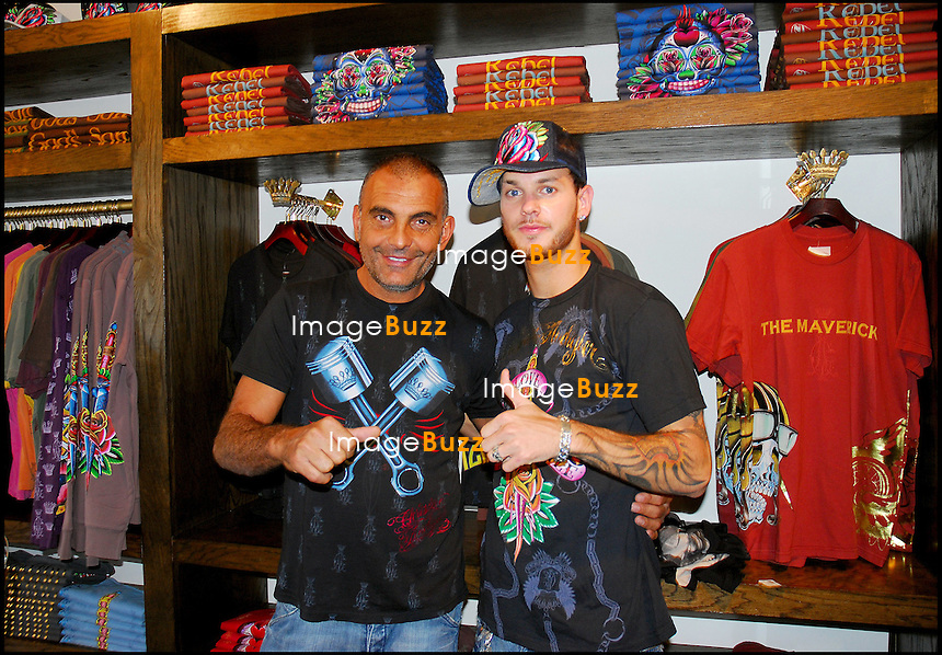 MATT POKORA CHEZ LE STYLISTE CHRISTIAN AUDIGIER A LOS ANGELES<br /> <br /> FRENCH SINGER MATT POKORA MEETS WITH FRENCH DESIGNER CHRISTIAN AUDIGIER AT HIS STORE &quot; ED HARDY &quot; ON MELROSE AVENUE.
