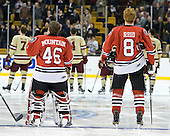 Bryan Mountain (Northeastern - 46), Adam Reid (Northeastern - 8) - The Boston College Eagles defeated the Northeastern University Huskies 7-1 in the opening round of the 2012 Beanpot on Monday, February 6, 2012, at TD Garden in Boston, Massachusetts.