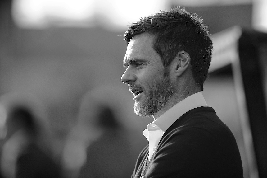 Fleetwood Town manager Graham Alexander <br /> <br /> Photographer Ashley Crowden/CameraSport<br /> <br /> Football - The Football League Sky Bet League One - Swindon Town v Fleetwood Town - Saturday 29th November 2014 - County Ground - Swindon<br /> <br /> &copy; CameraSport - 43 Linden Ave. Countesthorpe. Leicester. England. LE8 5PG - Tel: +44 (0) 116 277 4147 - admin@camerasport.com - www.camerasport.com
