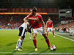 Gareth Bale of Wales holds the ball in the corner during the World Cup Qualifying Group D match at the Cardiff City Stadium, Cardiff. Picture date 2nd September 2017. Picture credit should read: Simon Bellis/Sportimage