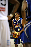 Saints guard Corey Webster. NBL - Wellington Saints v Nelson Giants at TSB Bank Arena, Wellington, New Zealand on Thursday, 19 May 2011. Photo: Dave Lintott / lintottphoto.co.nz