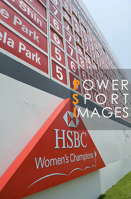 SINGAPORE - MARCH 08:  Scoreboard during the final round of HSBC Women's Champions at the Tanah Merah Country Club on March 8, 2009 in Singapore.  Photo by Victor Fraile / The Power of Sport Images