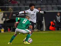 Serge Gnabry (Deutschland Germany) gegen Steven Davis (Nordirland, Northern Ireland) - 19.11.2019: Deutschland vs. Nordirland, Commerzbank Arena Frankfurt, EM-Qualifikation DISCLAIMER: DFB regulations prohibit any use of photographs as image sequences and/or quasi-video.