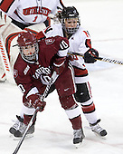 Gina McDonald (Harvard - 10), ? - The Harvard University Crimson defeated the Northeastern University Huskies 4-3 (SO) in the opening round of the Beanpot on Tuesday, February 8, 2011, at Conte Forum in Chestnut Hill, Massachusetts.
