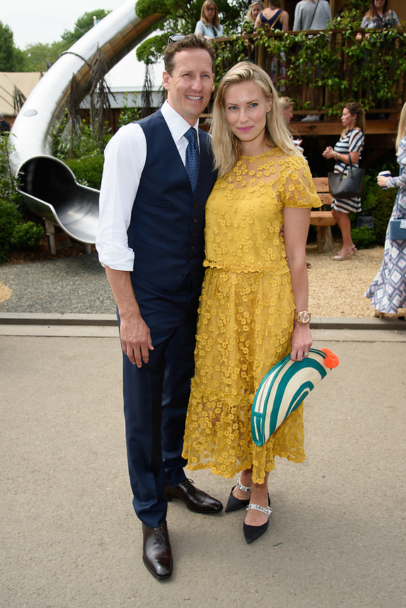 Bredan Cole and wife, Zoe<br /> at the Chelsea Flower Show 2018, London<br /> <br /> ©Ash Knotek  D3402  21/05/2018