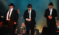Blues Brothers6028.JPG<br /> <br /> 1997 <br /> John Goodman, James Belushi,<br /> Dan Aykroyd, James Brown 1997<br /> Photo to By John Barrett-PHOTOlink.net/MediaPunch