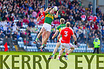 Anthony Maher Kerry in action against Fintan Goold Cork in the National Football League at Pairc Ui Rinn, Cork on Sunday.