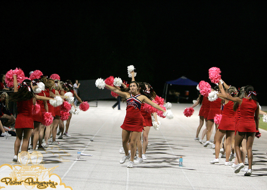 Lake Brantley's cheerleaders perform on Friday, October 14, 2011 at Olympia High School in Orlando, Florida. Olympia played Lake Brantley in high school football.   (Special to the Orlando Sentinel by Chad Pilster of http://www.PilsterPhotography.net)
