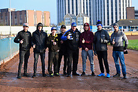 Poole Pirates with Manager Neil MiddleditchN during Poole Pirates vs Belle Vue Aces, Elite League Speedway at The Stadium on 11th April 2018