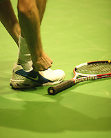 18-2-06, Netherlands, tennis, Rotterdam, ABNAMROWTT, Shoe and racket