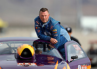 Oct 30, 2016; Las Vegas, NV, USA; NHRA comp eliminator driver Dan Fletcher during the Toyota Nationals at The Strip at Las Vegas Motor Speedway. Mandatory Credit: Mark J. Rebilas-USA TODAY Sports