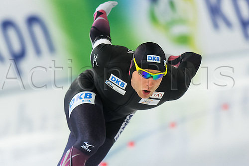 January 29th 2017, Sportforum, Berlin, Germany; ISU Speed Skating World Cup;  ISU Speed Skating World Cup 1000m Division A; Nico Ihle (GER)