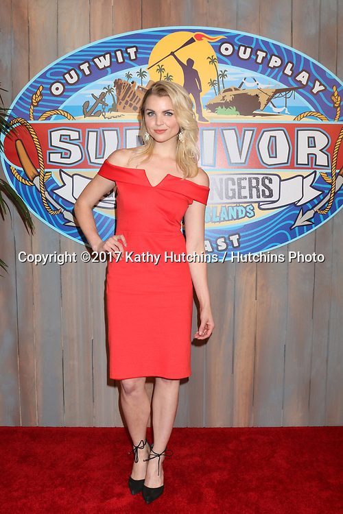 "LOS ANGELES - MAY 24:  Andrea Boehlke at the ""Survivor: Game Changers - Mamanuca Islands"" Finale at the CBS Studio Center on May 24, 2017 in Studio City, CA"
