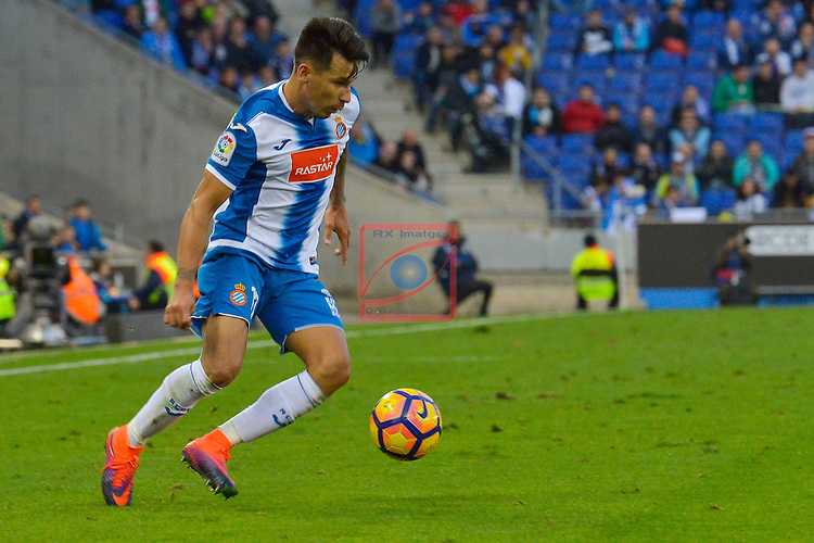 League Santander 2016/2017. Game: 11.<br /> RCD Espanyol vs Athletic Club: 0-0.<br /> Hernan Perez.