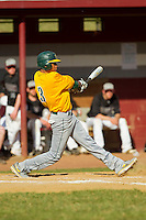 Keith Bjaelker (3) of the SUNY Sullivan Generals takes his swings against the County College of Morris Titans on the campus of County College of Morris on April 9, 2013 in Randolph, New Jersey.  The Titans defeated the Generals 12-4.  (Brian Westerholt/Four Seam Images)