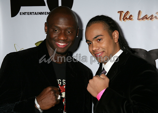 "12 December 2006 - Hollywood, California. Antonio Tarver and James Francis Kelly III. Antonio Tarver's ""Rocky Balboa"" Premiere Kick-Off Party at Garden of Eden. Photo Credit: Byron Purvis/AdMedia"