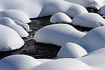 Snow Formations on Soda Butte Creek, Yellowstone NP, WY, USA