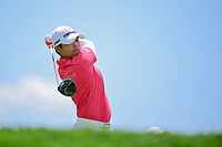 Haru Nomura (JPN) watches her tee shot on 2 during Sunday's final round of the 72nd U.S. Women's Open Championship, at Trump National Golf Club, Bedminster, New Jersey. 7/16/2017.<br /> Picture: Golffile | Ken Murray<br /> <br /> <br /> All photo usage must carry mandatory copyright credit (&copy; Golffile | Ken Murray)